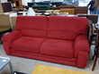Canapé contemporain microfibre rouge