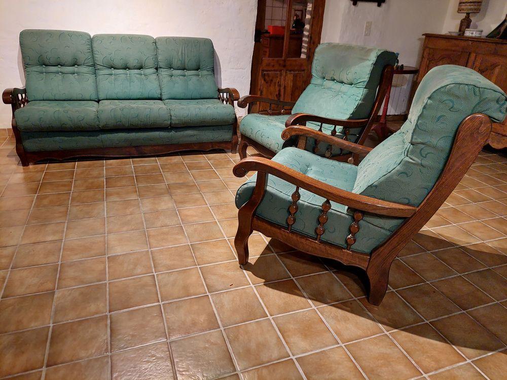 Canapé convertible et ses 2 fauteuils Occasion Meubles