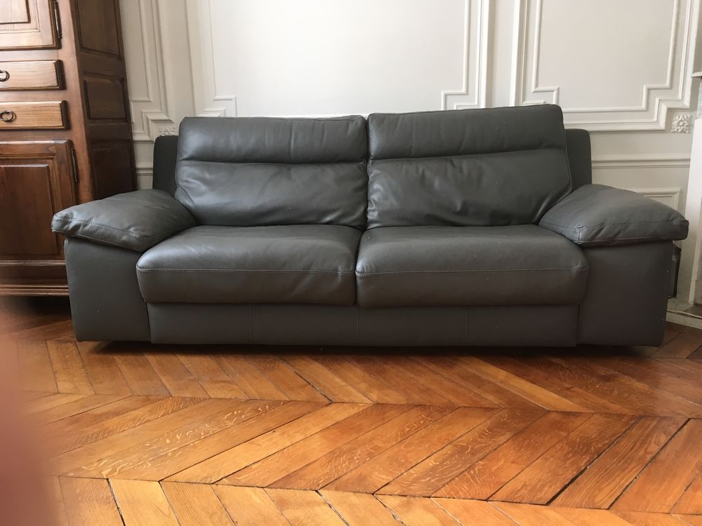 CANAPE CONVERTIBLE 3 PLACES EN CUIR 1350 Paris 17 (75)