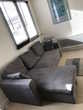 Canapé convertible en tissu gris Aspen 3 places + Pierrelaye (95)