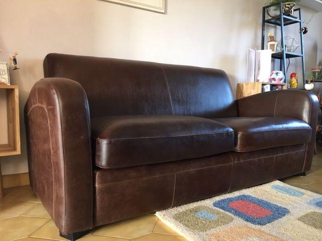 Alinea fauteuil cuir for Canape alinea
