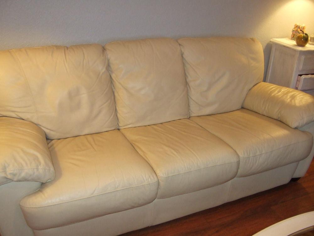 Achetez canap cuir beige occasion annonce vente saint for Canape 2 metres