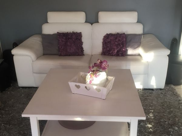 Achetez canap en cuir blanc occasion annonce vente juvisy sur orge 91 w - Canape cuir poltronesofa ...