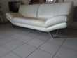 Canapé de cuir blanc 3 places Meubles