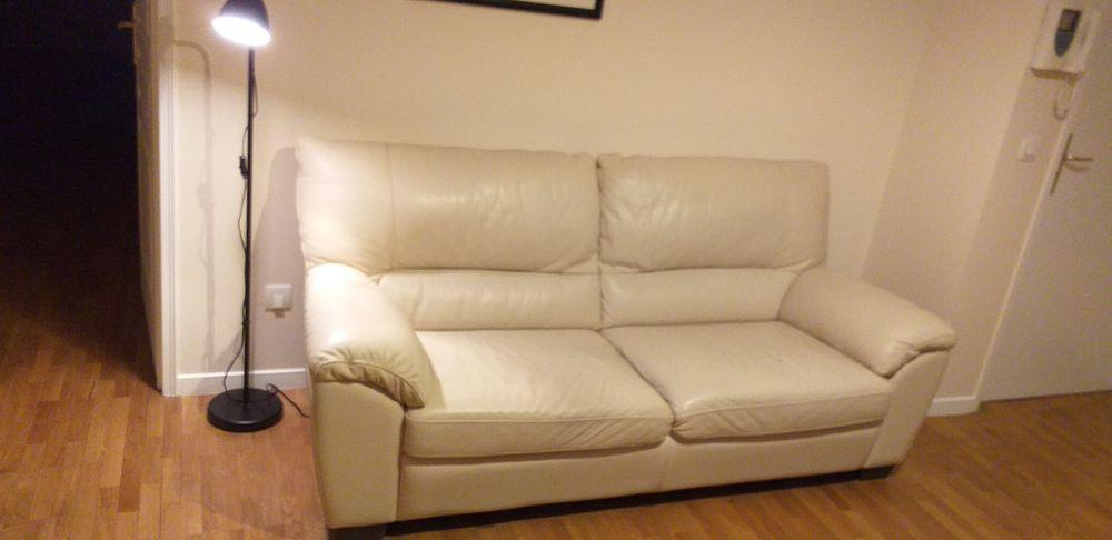 Canapé cuir blanc 190 Puteaux (92)