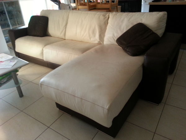 Achetez canap cuir occasion annonce vente montpellier 34 wb150481410 - Canape cuir convertible occasion ...