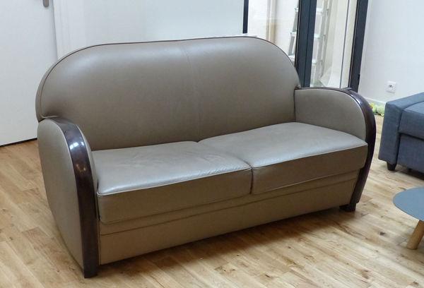 Achetez canap en cuir occasion annonce vente paris 75 wb152618801 - Canape club occasion ...