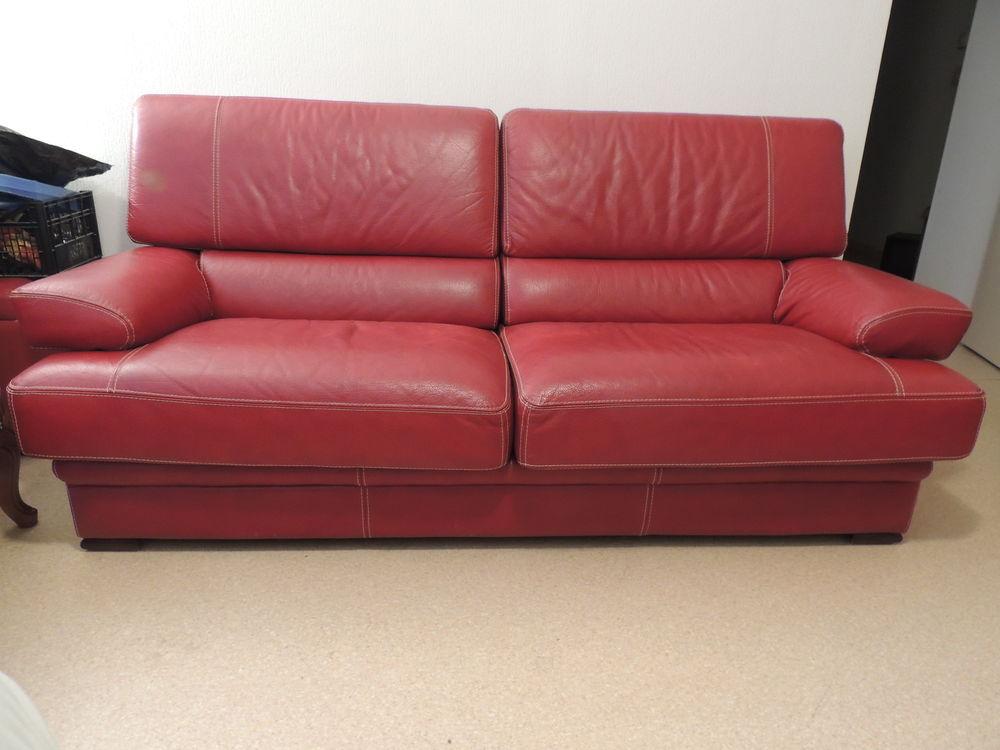Canapé en cuir épais, très bon état 350 Toulouse (31)