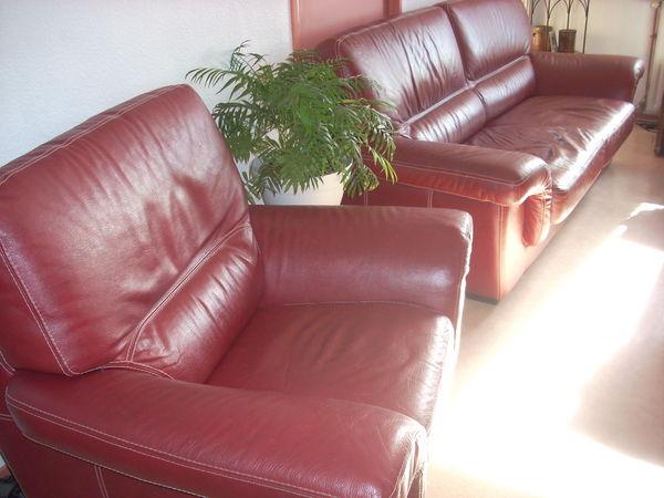 canapé en cuir + 1 fauteuil 450 Toulouse (31)