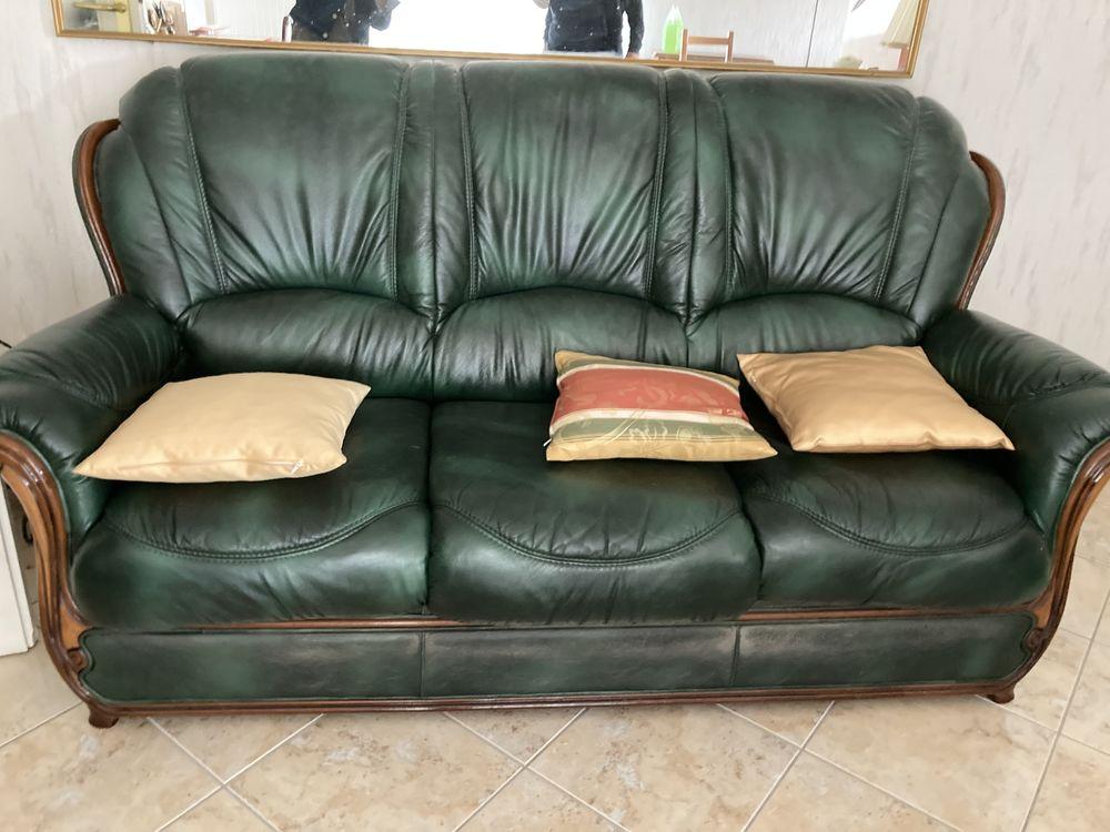 Canapé cuir + fauteuil  100 Craponne (69)