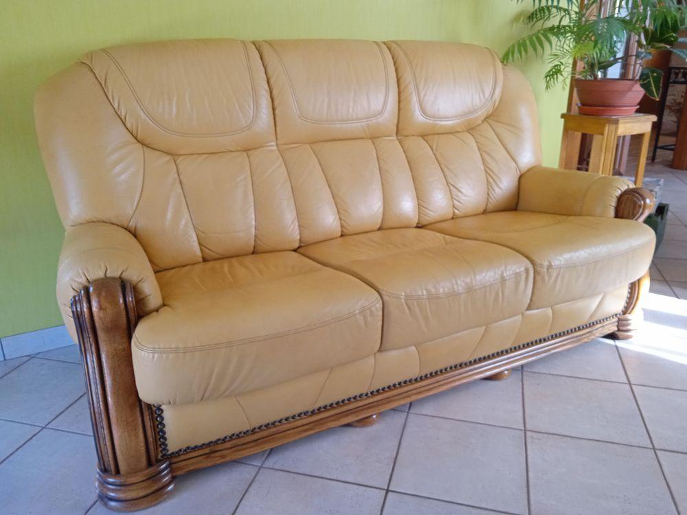 canapé cuir + 1 fauteuil 500 Éply (54)