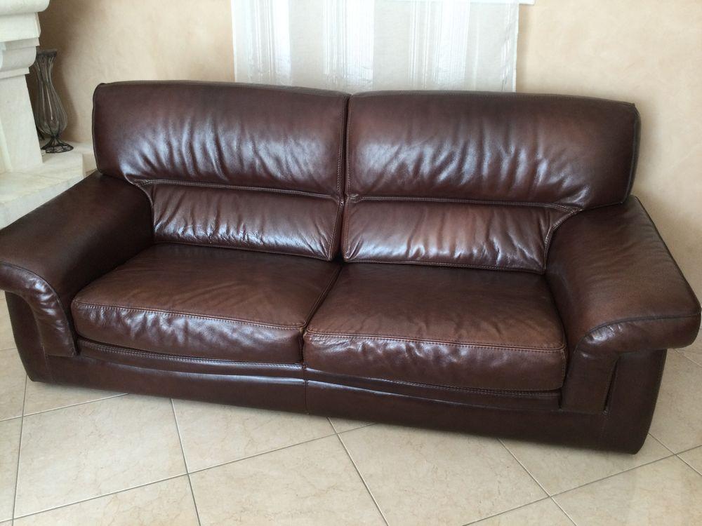un canapé en cuir + 2 fauteuils assortis 280 Tourbes (34)