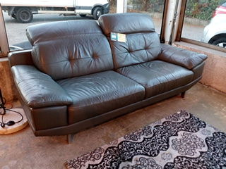 Canapé cuir gris 390 Toulouse (31)