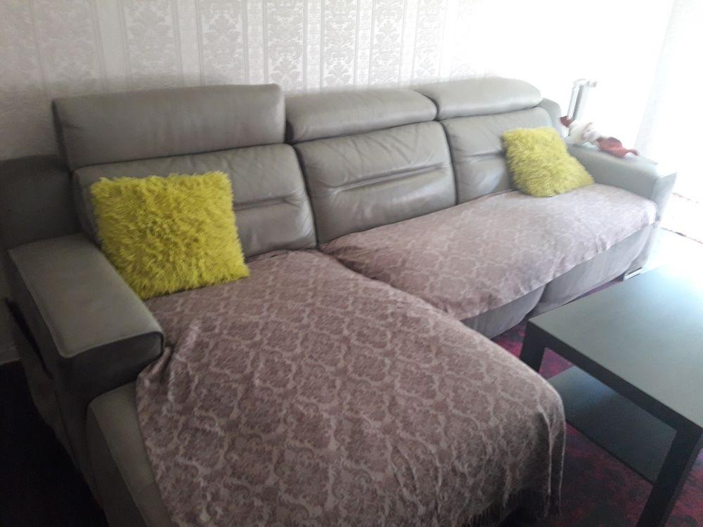 canapé cuir gris Meubles