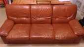 canapé cuir marron + 2 fauteuil 150 Châlons-en-Champagne (51)