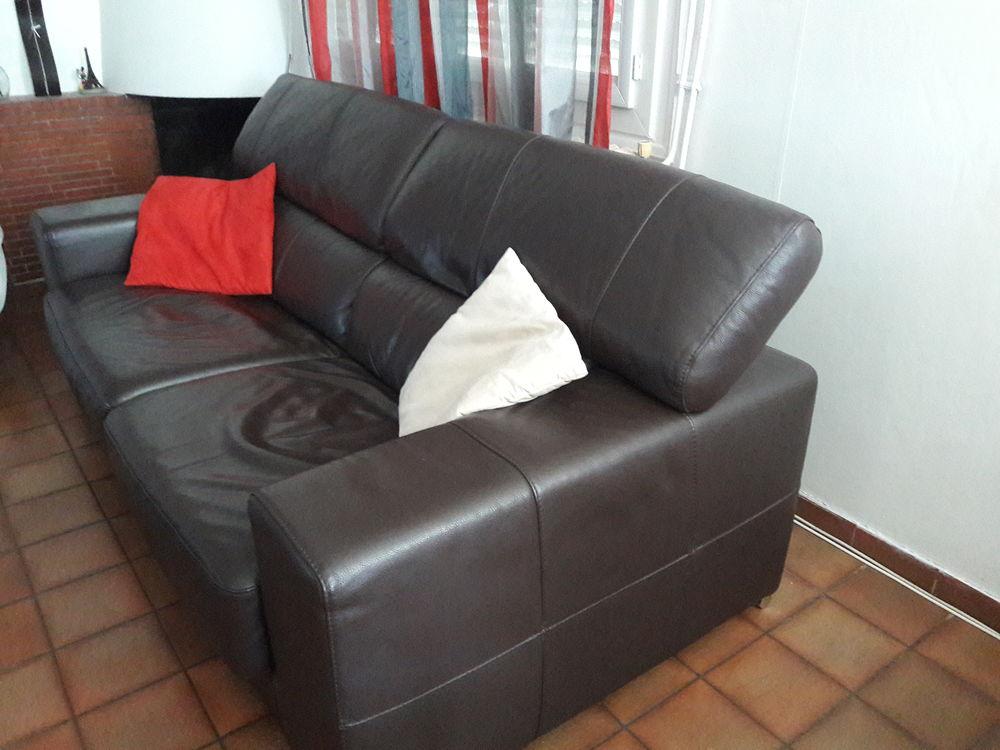 Canapé cuir marron 195 Marmande (47)