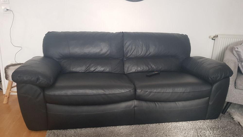 Canape cuir noir 250 Argenteuil (95)