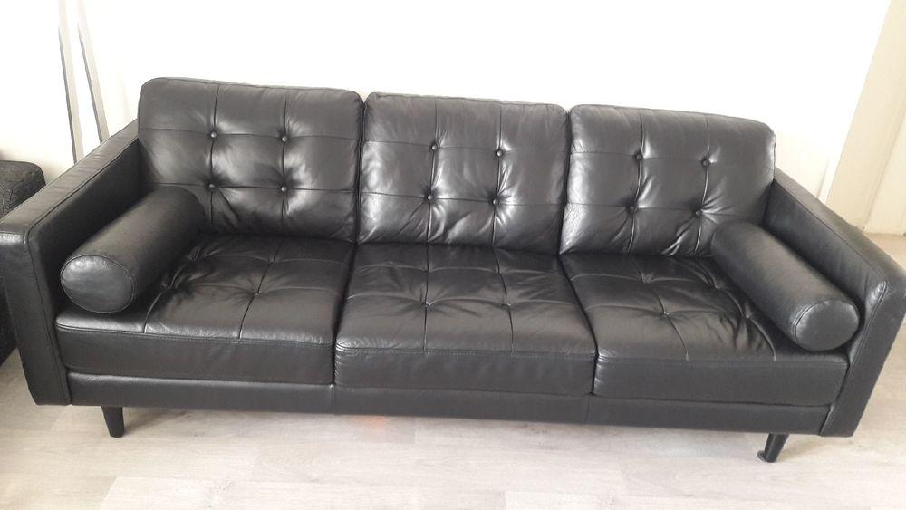 Canapé cuir noir 700 Créteil (94)
