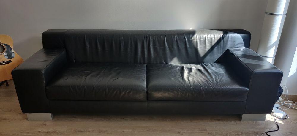 Canapé cuir noir design - Story 400 Saint-Germain-en-Laye (78)