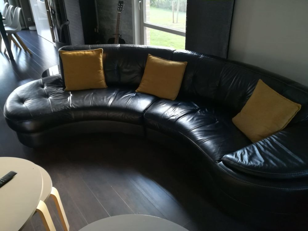 Canapé en cuir noir 490 Marquion (62)