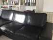 Canapé cuir noir avec méridienne Meubles