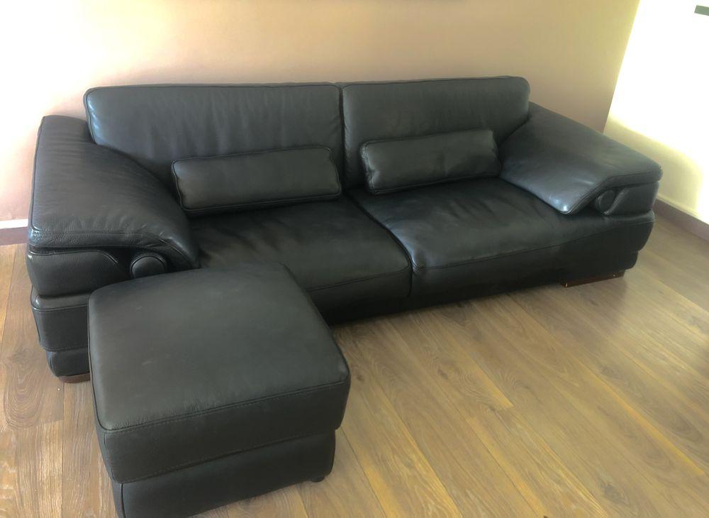 Canapé cuir noir 400 Cergy (95)