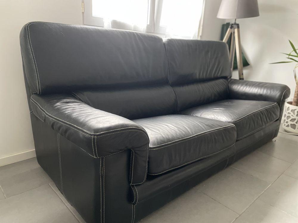 Canapé en cuir noir  0 Montigny-en-Gohelle (62)