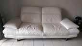 Canapé cuir 3 places, Home Salons 900 Montpellier (34)