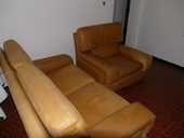 canapé en cuir 2 places + 2 fauteuils 0 Le Porge (33)