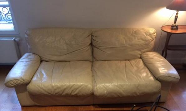 canap s en cuir occasion paris 75 annonces achat et. Black Bedroom Furniture Sets. Home Design Ideas