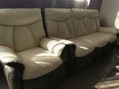 canape cuir 3 places avec 2 fauteuils électrique 250 Jonquières (84)