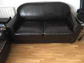 Canapé cuir plus 2 fauteuils 500 Paris 19 (75)