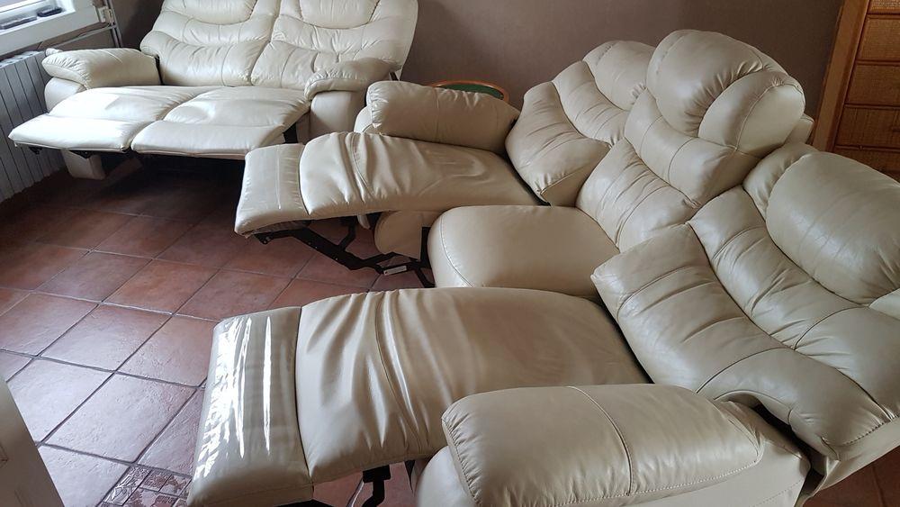 Canapé cuir relaxe électrique  400 Sin-le-Noble (59)