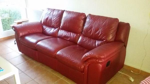 Achetez canap cuir repose occasion annonce vente toulon 83 wb148950410 - Canape avec repose pied ...