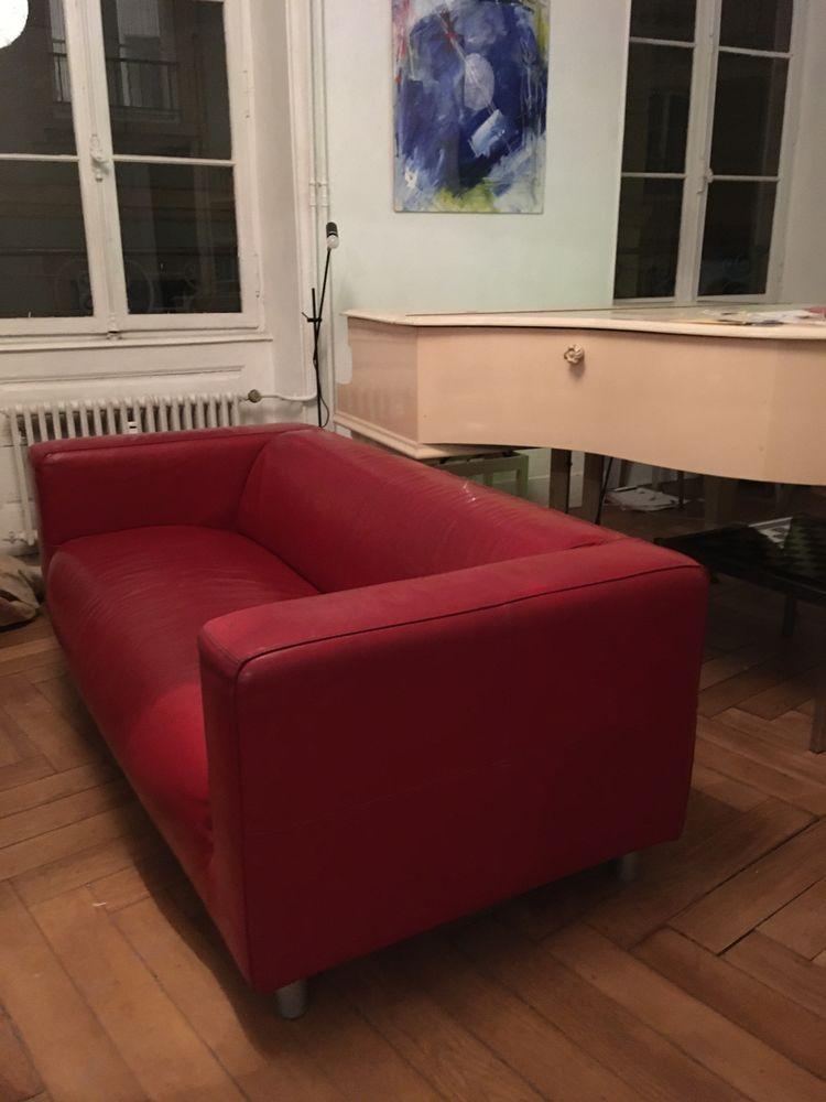 canapé en cuir rouge IKEA 3 places 0 Strasbourg (67)