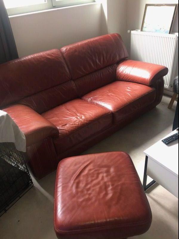 Canapé en cuir rouge 0 Paris 18 (75)