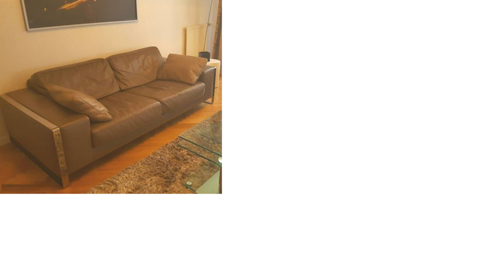 Achetez canap cuir taupe occasion annonce vente levallois perret 92 wb1 - Canape cuir roche bobois occasion ...