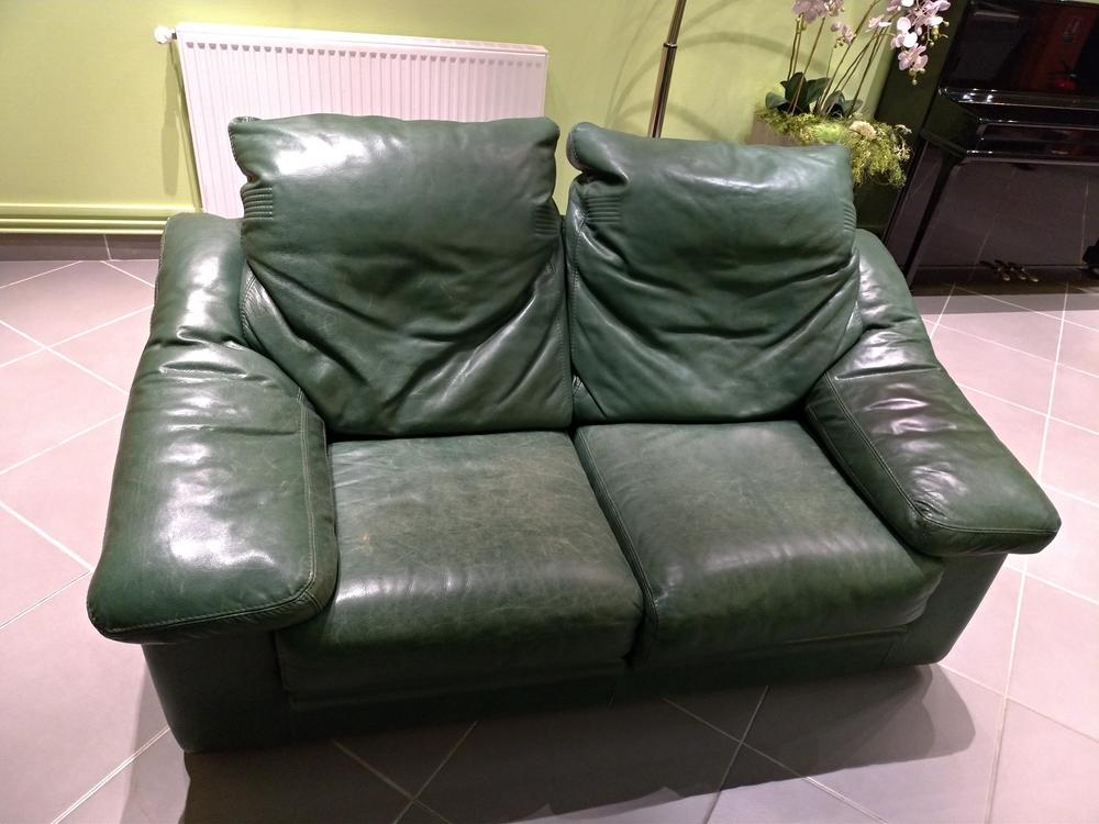 Canapé cuir vert 150 Lyon 7 (69)