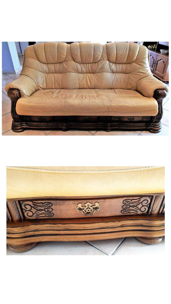 Canapé cuir 0 Lespignan (34)