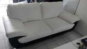 Canapé et fauteuil blanc et noir 480 La Houssaye-en-Brie (77)