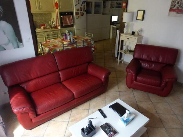 canapé et fauteuil cuir de buffle 350 Bouc-Bel-Air (13)