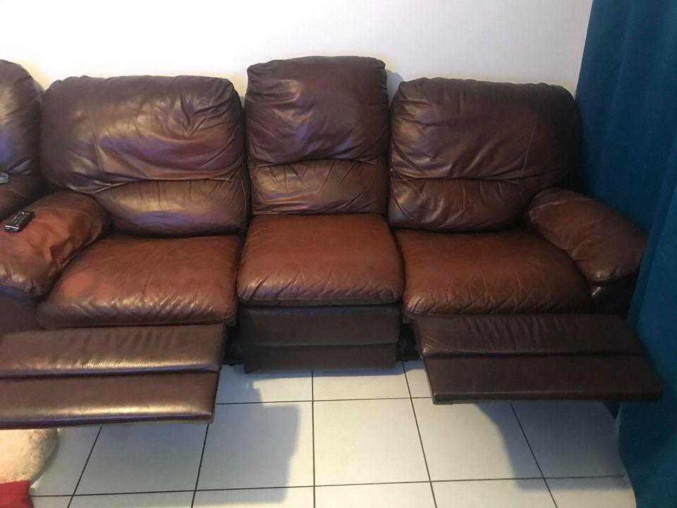 Canapé et fauteuil relax en cuir 200 Craponne (69)