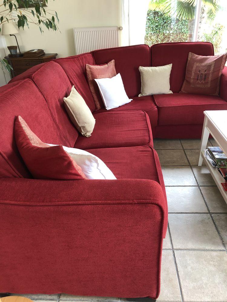 Canapé et fauteuil rouge  600 Le Loroux-Bottereau (44)