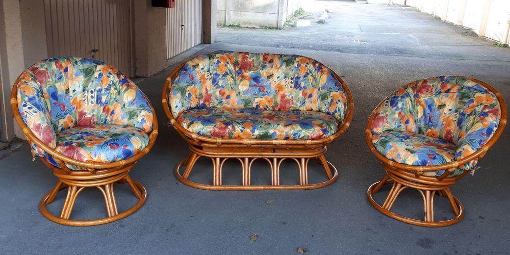 Canapé et 2 fauteuils en 4rotin  - LE ROTIN DU GÂTINAIS  - EXCELLENT ÉTAT 1000 Villemomble (93)