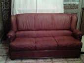 Canapé + 2 fauteuils cuir marron clair 0 Trémont-sur-Saulx (55)