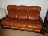 Canapé , 2 fauteuils en cuir 400 Dunières (43)
