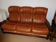 Canapé , 2 fauteuils en cuir Dunières (43)