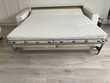 d'un canapé-lit et de2 fauteuils en .cuir blanc Occasion Meubles