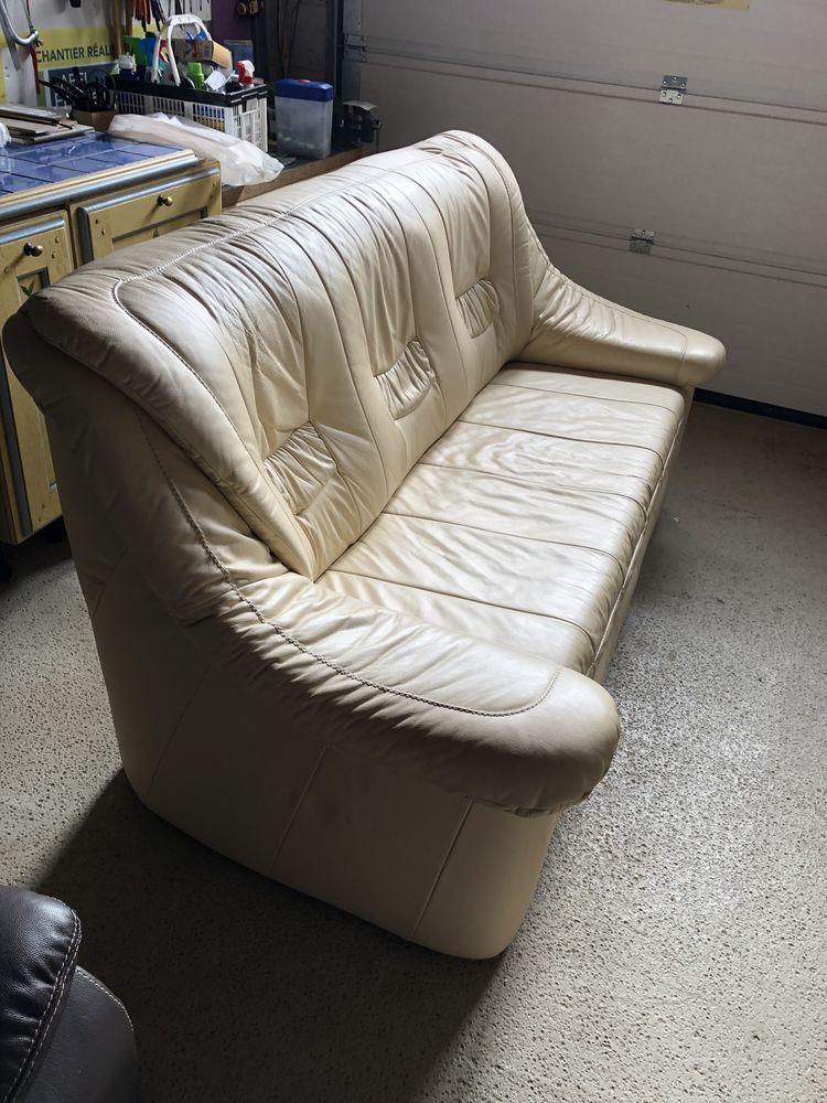 Canapé-lit et 2 fauteuils électriques en cuir 500 Ploufragan (22)