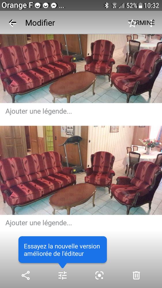 Canapé et 2 fauteuils style régence couleur rouge 0 Lisieux (14)